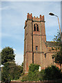 TQ4177 : Tower of St Luke's church, Charlton by Stephen Craven