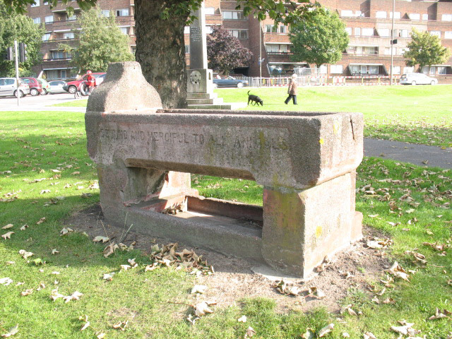 Woolwich Common: 'Metropolitan' horse trough