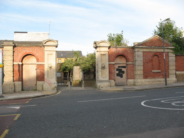 Red barracks gates