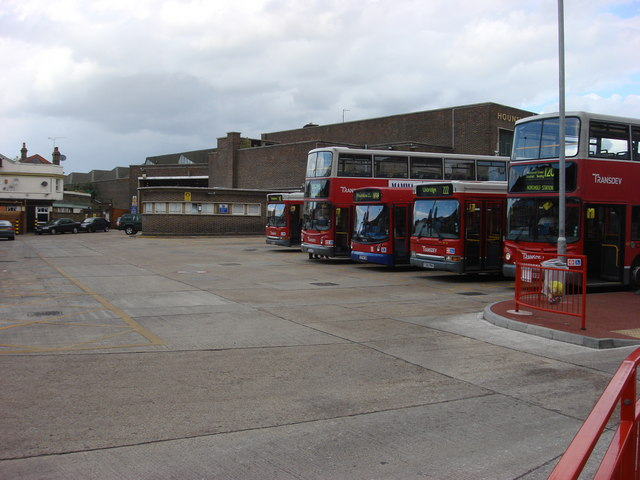 Hounslow bus garage, buses waiting for their next turn of duty