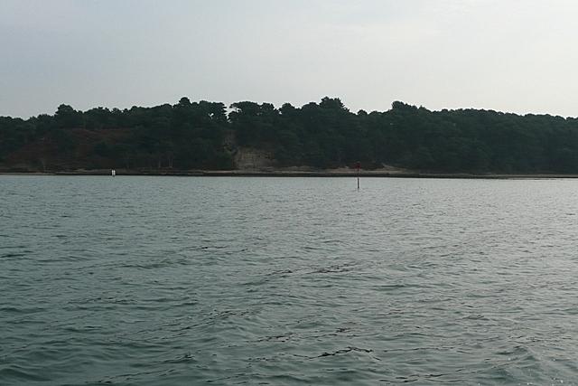 Rounding Brownsea Island