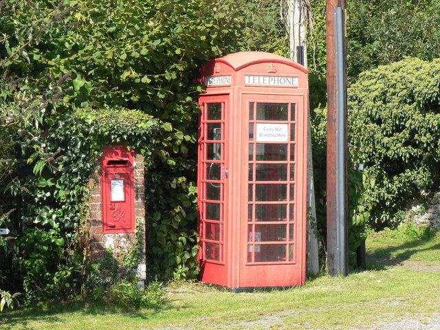 Turnworth: postbox № DT11 60 and phone
