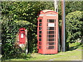 ST8207 : Turnworth: postbox № DT11 60 and phone by Chris Downer