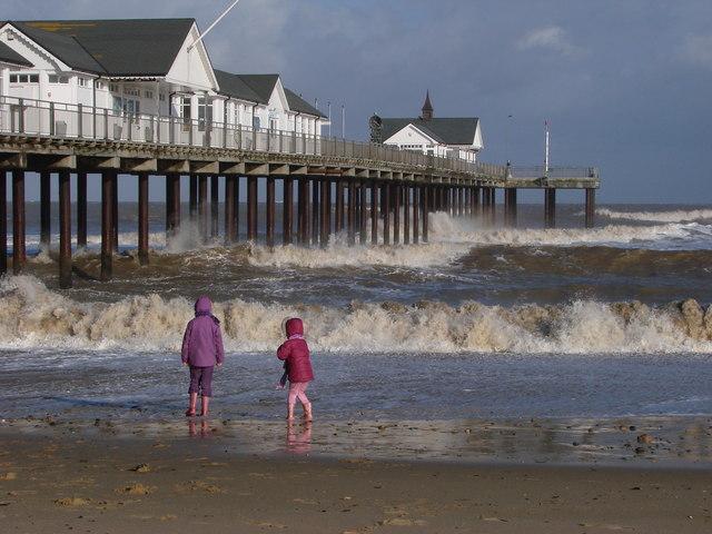 Children at Southwold Pier