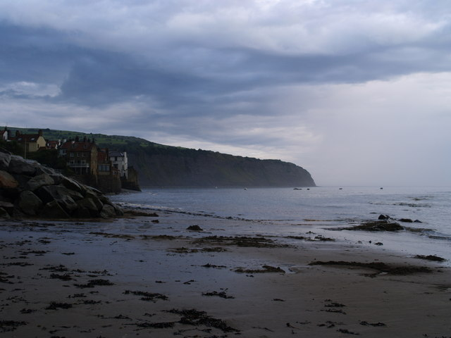 Robin Hood's Bay from the beach.