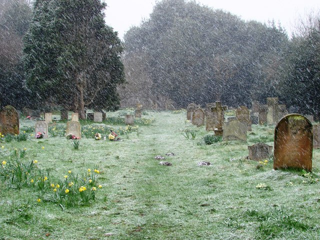 Dunwich cemetery, Easter 2008