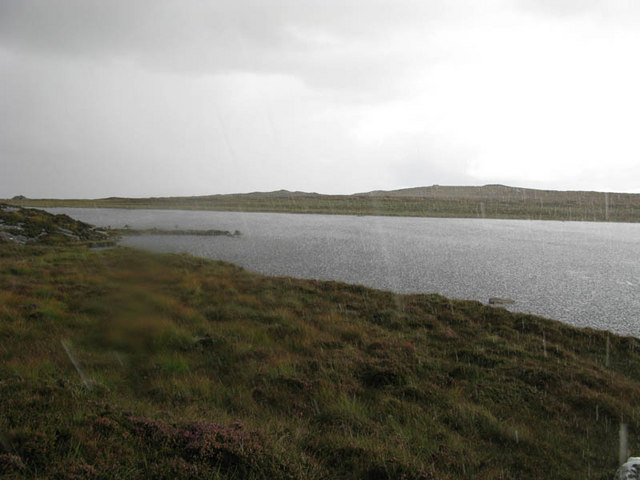 Loch nan Leac in the rain