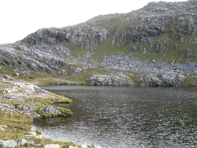 Unnamed loch at Braigh Cracabhal
