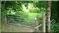 SU8827 : Footpath exit from field over stile by Shazz