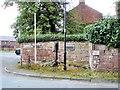 SJ4462 : Saighton - village pump by Mike Harris