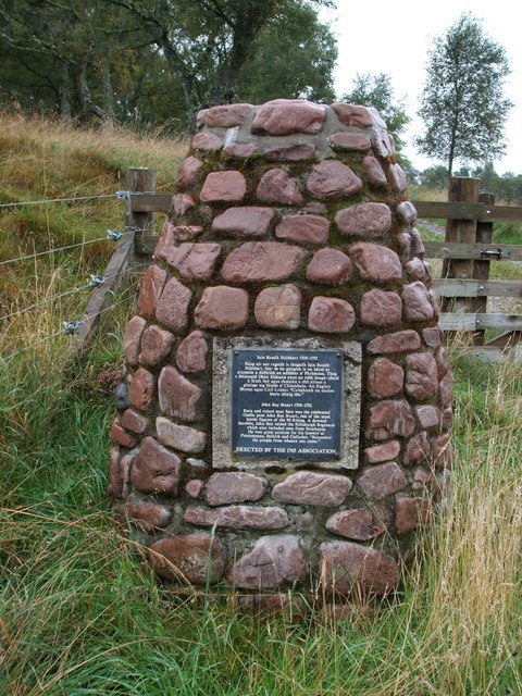 Memorial cairn to John Roy Stuart, (1700-1752)