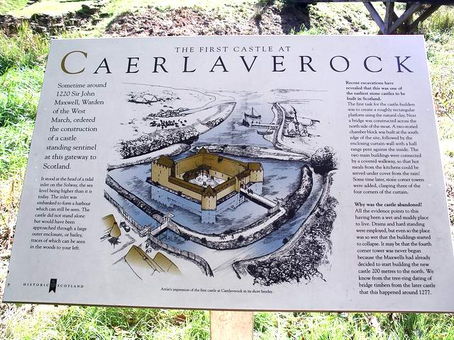 Information board, Caerlaverock first castle