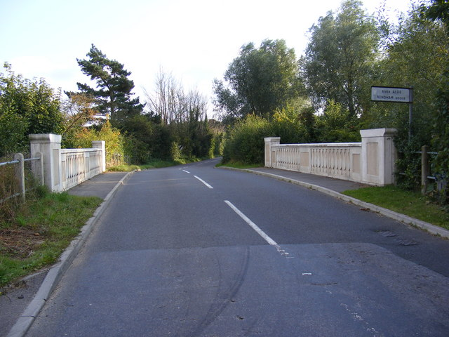 Rendham Bridge on the B1119 Low Road