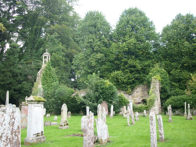 The ruins of Old Ancrum Parish Church.