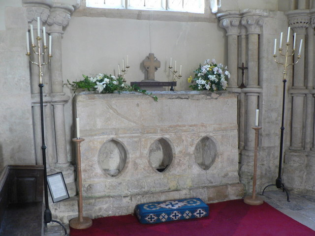 Whitchurch Canonicorum: the shrine of St. Wite