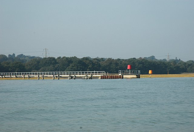 Industrial outfall on saltmarshes, Southampton Water