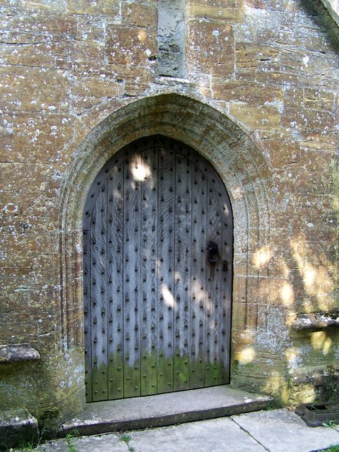 Porch door, All Saints Church, Hilton