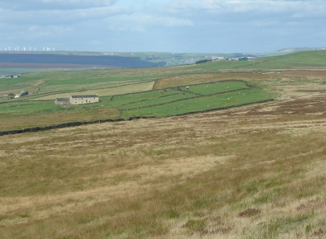 The view from the northern slopes of Great Manshead Hill, Soyland
