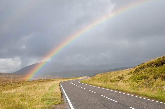 Rainbow over the A837