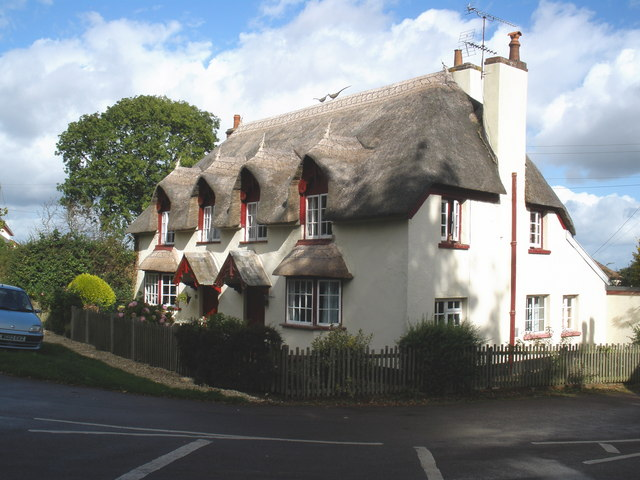 Thatched cottages, Powderham