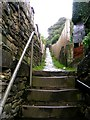 SE0524 : Footpath - Hollins Lane, Sowerby Bridge by Betty Longbottom