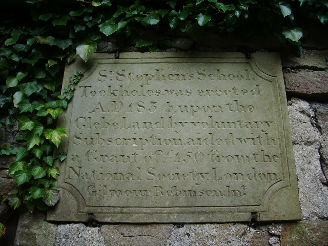 Stone plaque on the former St Stephen's School