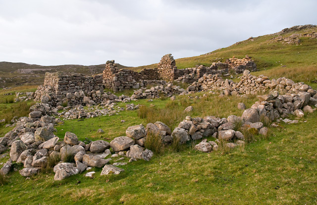 Ruins of Croft at Camas,a'ghlais'lean