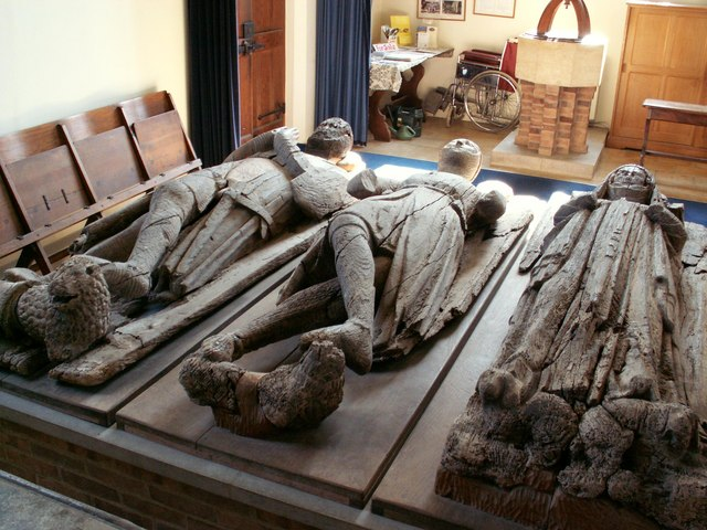 The wooden effigies inside St. Peter & St. Paul's church