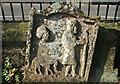 NS5426 : A symbolic stone at Sorn Parish Churchyard by Walter Baxter