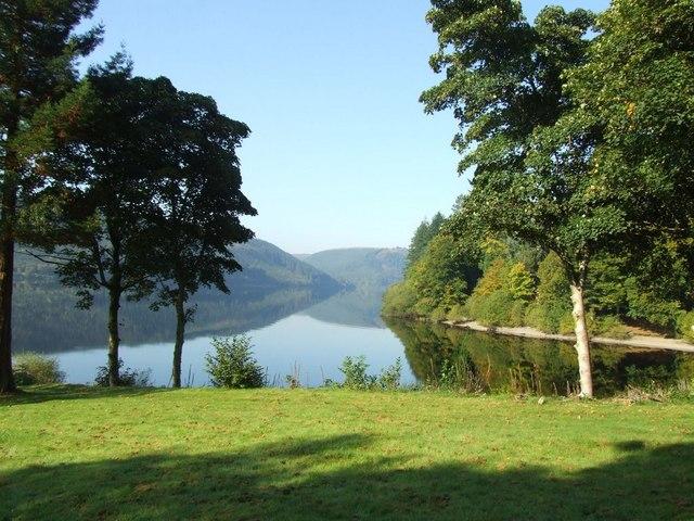 Afon Cadig entering Llyn Efyrnwy