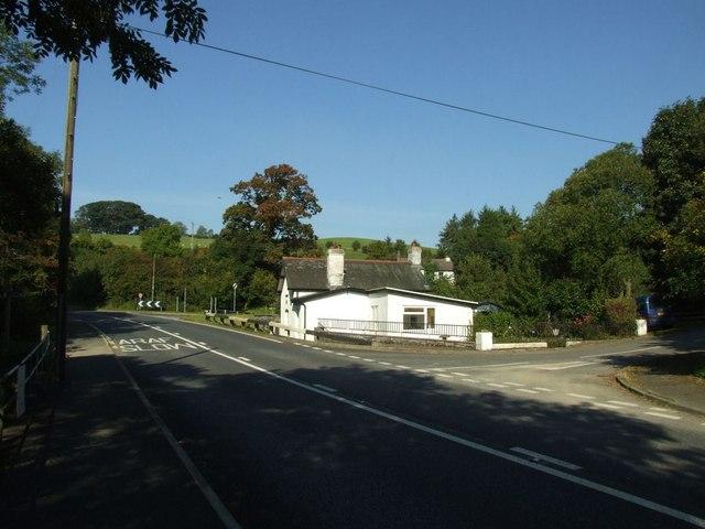 A483 at Llanbadarn Fynydd