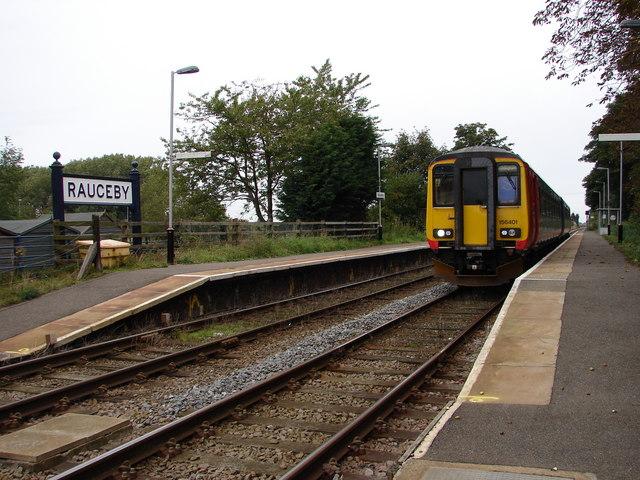 Train at Rauceby Station