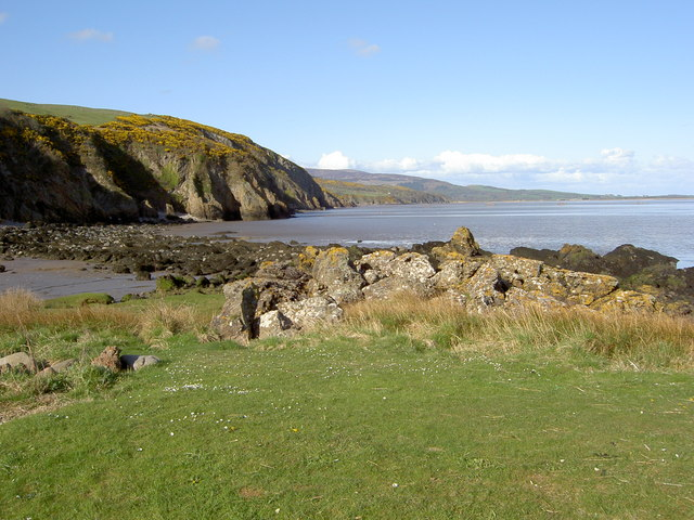 Portling Bay looking down towards Sandyhills