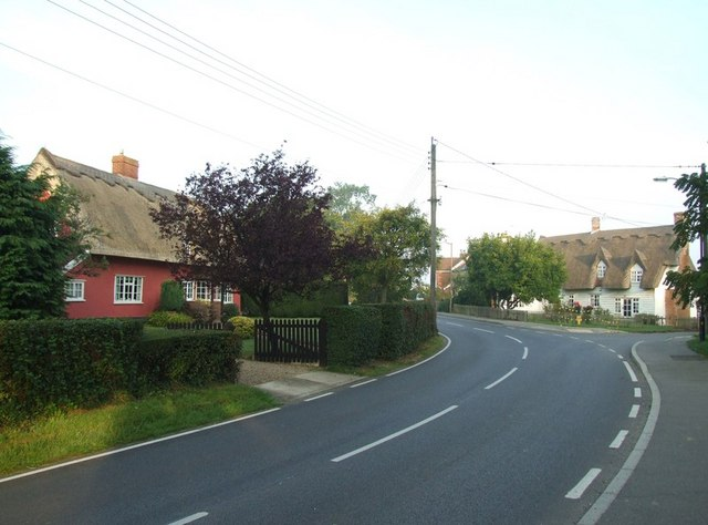 Thatched cottages on Shalford Road, Rayne