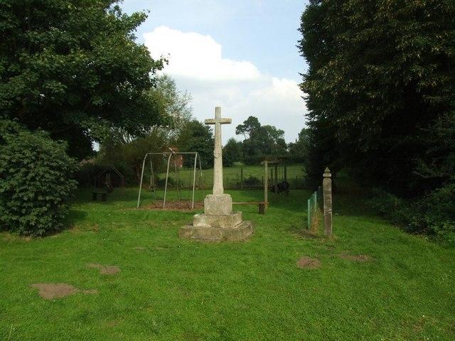 War memorial and play area