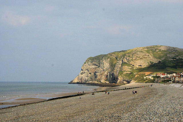 Beach at Craig-y-Don looking towards the Little Orme