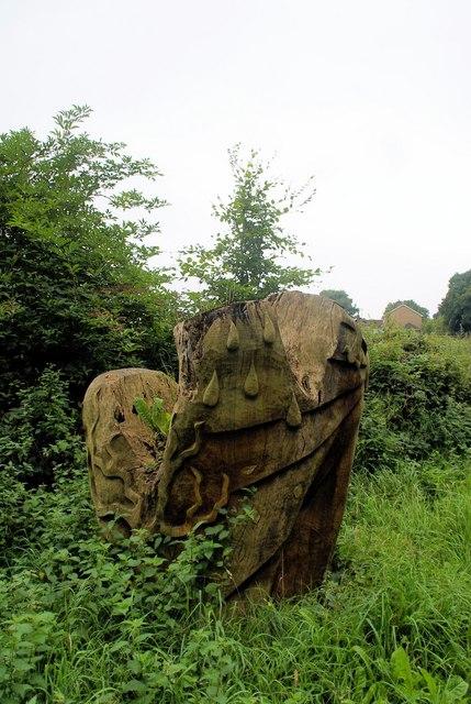 Beech sculpture