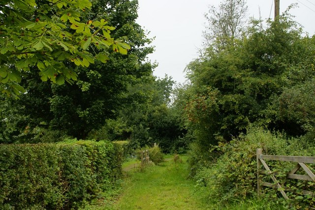 Between the school and the churchyard