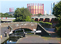 SP0788 : Aston Lock No 14 and Bridge 15, Birmingham and Fazeley Canal by Roger  Kidd