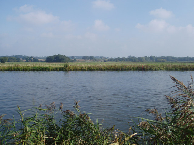 Buckenham Station from South bank of River Yare