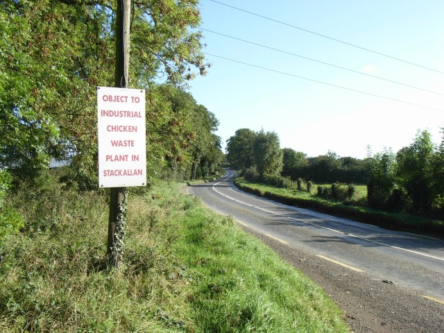 Protest sign at Dunmoe, near Navan, Co. Meath