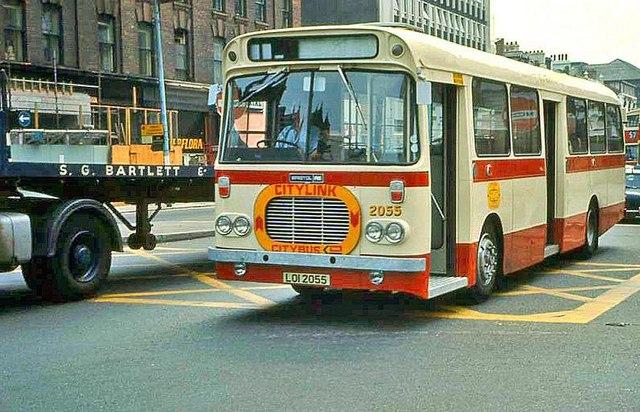 Citylink bus, Belfast