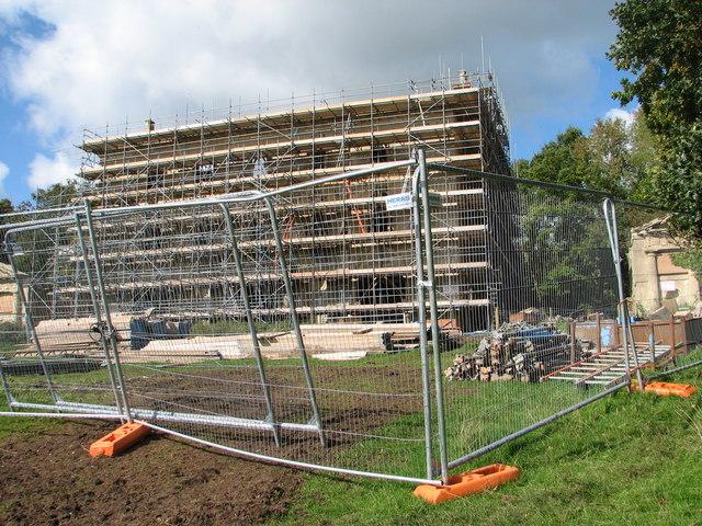 Chepstow - Piercefield House under scaffolding