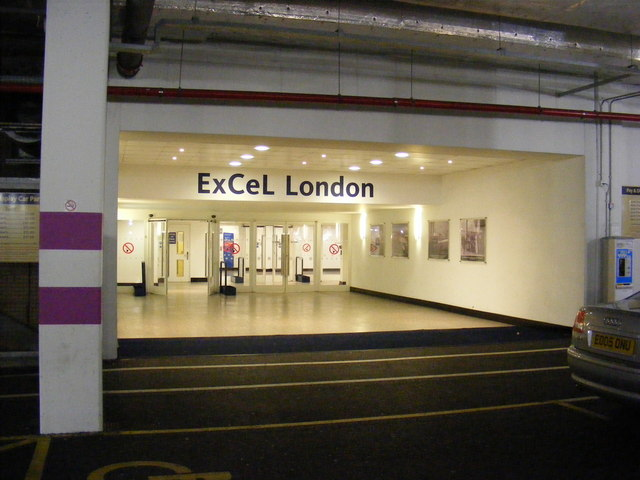 Entrance to Excel from car park