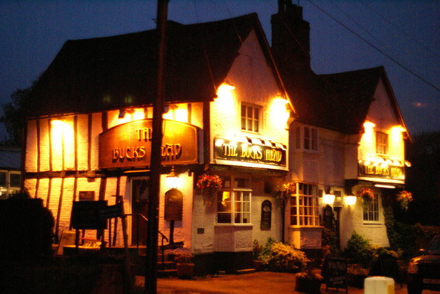 The Bucks Head at night