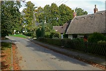 SK8707 : Thatched cottage along Church Road by Mat Fascione