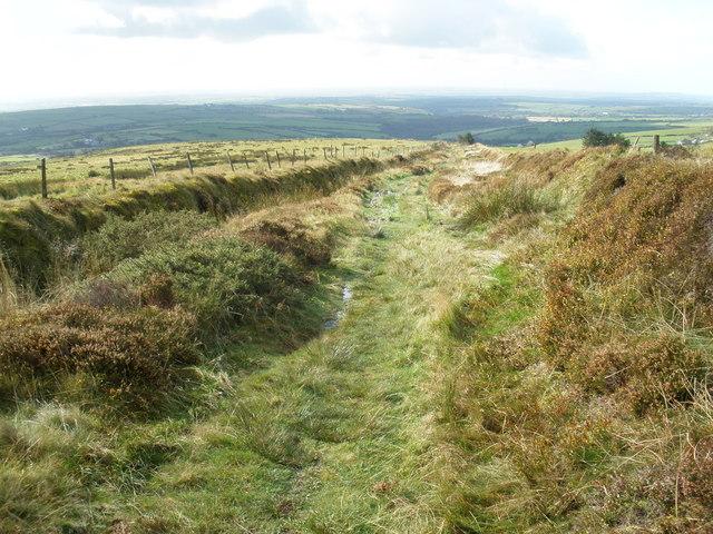 Hill track, near Rosebush