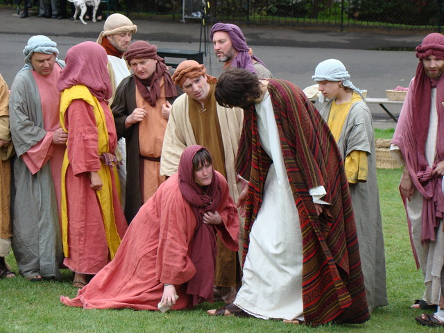 """Outdoor theatre depicting """"The Life of Christ"""""""