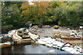 SX5380 : Mary Tavy: fish pass and weir by Martin Bodman