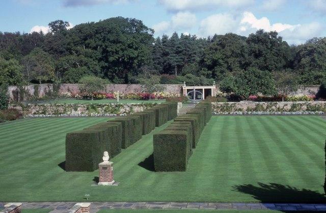 The garden at Herstmonceux Castle